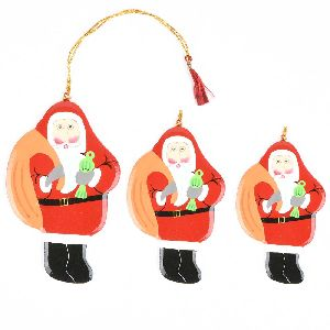 Christmas Tree Hanging Decoration Green Santa Clauses