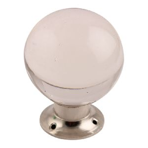 Clear Big Glass Drawer Knobs
