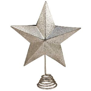 Iron Hanging Star In Silver