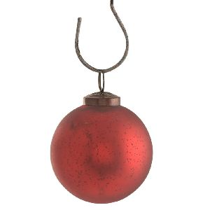 Red Round Christmas Hanging