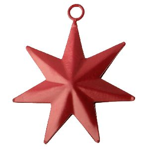 Red Star Christmas Metal Hanging