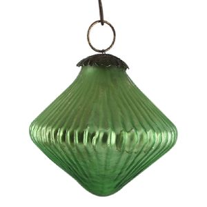 Top Pea Green Tiny Diamond Christmas Ornament