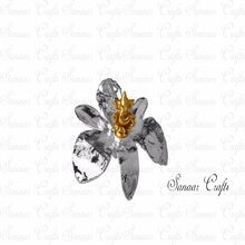 Silver Plated Orchid Flower