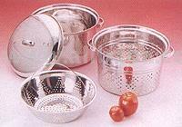 Stainless Steel Pasta Cooker Steamer Set