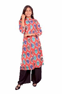 Ladies Cotton Kurta & Plazoo