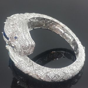 925 sterling silver iced out dragon bracelet