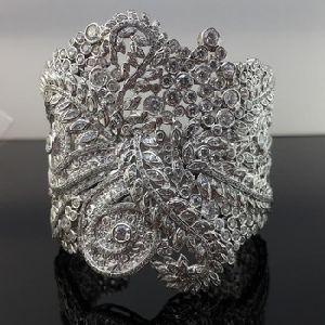 handmade beautiful Fern wind cuff bracelet
