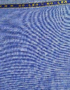 NS Fabric Vista Blue100% Pure Linen Lea 60*60 Fabric