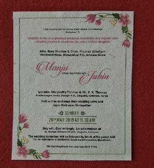 Plantable Seed Paper Wedding Card Manufacturer In Mumbai