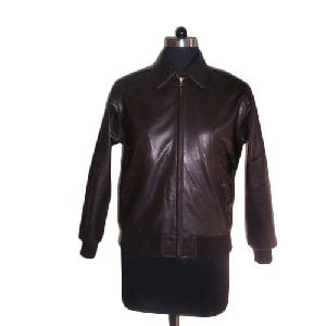 Ladies Zipper Designer Leather Jacket