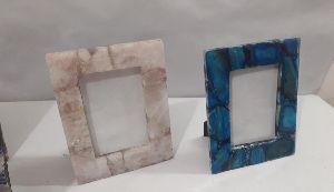 semi precious stone photo frame