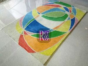 Geometric Design Wool Carpet