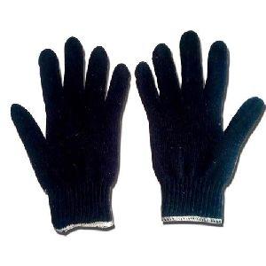 Full Finger Blue Cotton Gloves