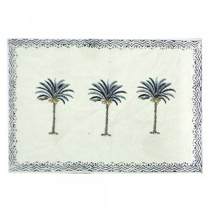 Tablemat Hand Block Printed On Cotton Canvas
