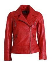Womens Ladies Sheep Genuine Leather Biker Jacket