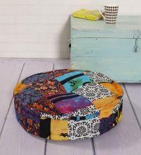 Handmade Square Cotton Floor Pillows Patchwork Throw
