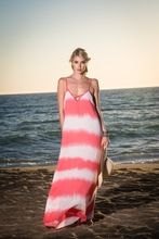 Multicolor Dyed Rayon Maxi Dress