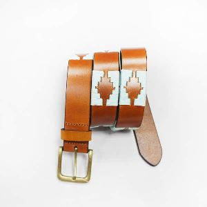 Ladies Trendy Brown Leather Belt