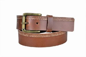 Mens Brown Formal Leather Belt