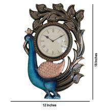 Standing Peacock Wall Clock