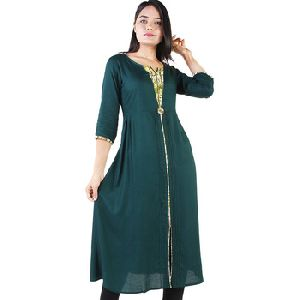 100% Rayon Kurti Kurta Dress For Women