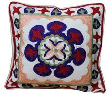 Indian Ethanic Jaipuri Pure Cotton Designer Suzani Work Sofa Cushion Cover