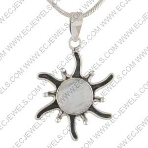 Ethnic Piece Of 925 Sterling Silver Jewelry