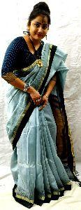 Handloom Silkcotton Ghicha Pallu Saree
