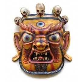 Wooden Mahakal Buddha Wall Hanging Mask