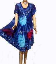 Tie And Dye Sleeve Dress