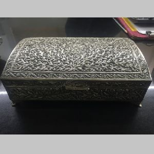 Antique Solid Silver Brass Box