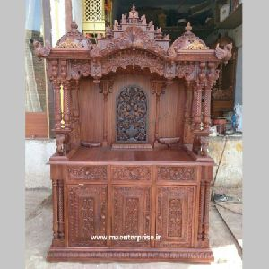 Wooden Temple Made From Teak Wood