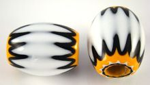 Custom Made Chevron Glass Beads