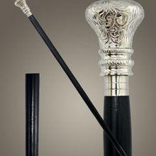 Indian Rosewood In Black Walking Stick