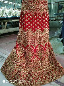 Embroidery Lahenga Choli Velvet And Net
