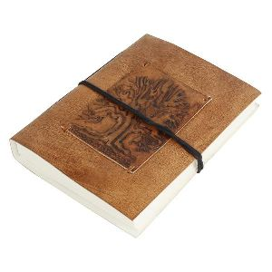 Embossed Leather Journal Leather Diary