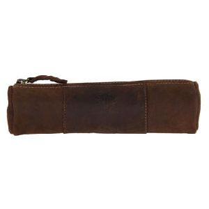 Vintage Style Pen Pencil Case Leather Pouch