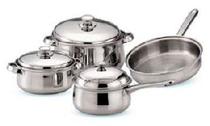 Belly Cookware Set with steel handle 7 pieces