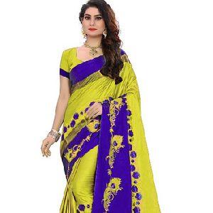 Beautiful Design Soft Cotton Silk Saree