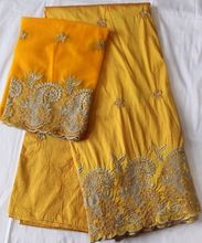 GOLD nigerian lace george wrapper