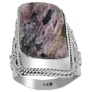 Sugilite Gemstone Fancy Shape Ring