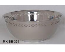 Metal Nickel Plated Fruit Bowl
