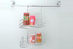 Modular Multipurpose Stainless Steel Wire Hanging Corner Rack