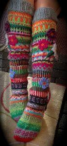 Hand Knitted Woollen Socks