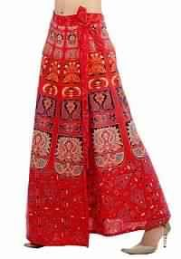 Around Long Skirt with beautiful block print pattern on cotton