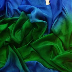 belly dance silk veil green/Blue