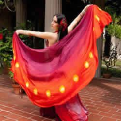 belly dance silk veil half circle
