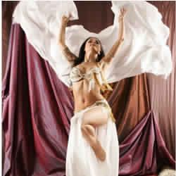 belly dance silk veil Solid Color