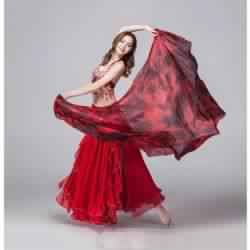 Belly dance silk veils