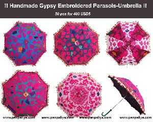 Embroidered Parasol-Umbrella